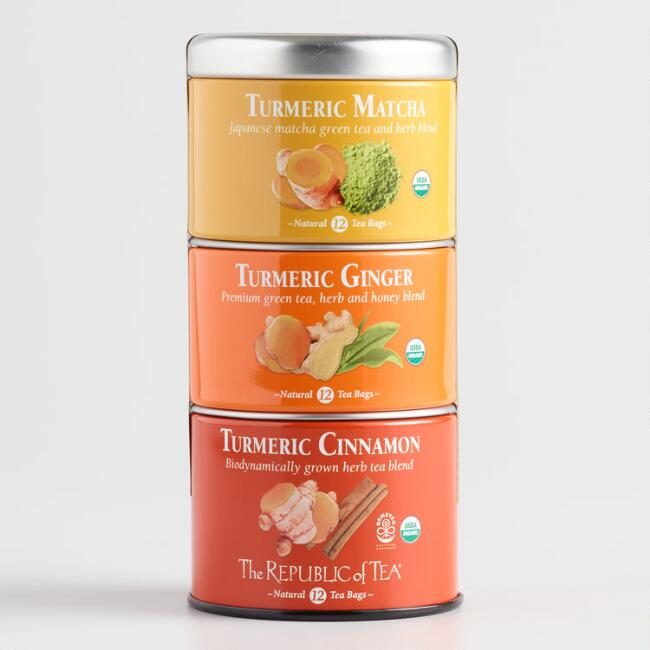 The Republic of Tea Turmeric Stackable Tin 36 Count