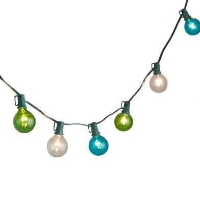 Blue And Green Seaside 30 Bulb String Lights