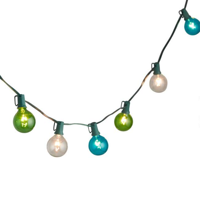 Blue and Green Seaside String Lights