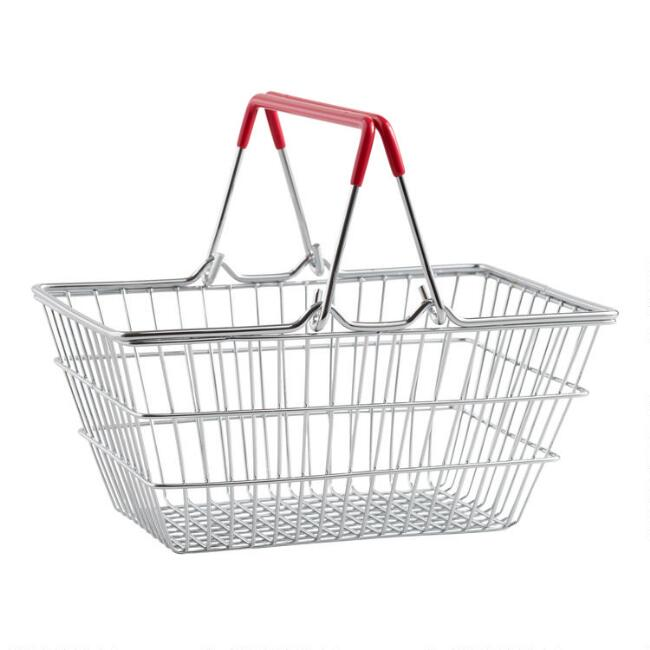 Mini Metal Shopping Basket Tabletop Decor