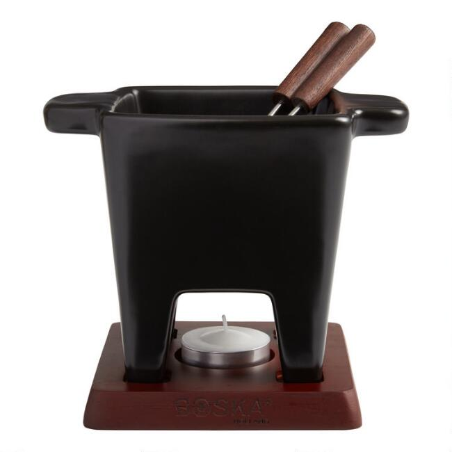 Boska Black Tapas Tealight Fondue Set