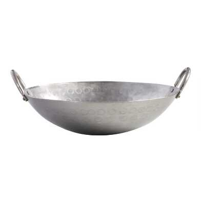 12 Inch Hand Hammered Carbon Steel Wok