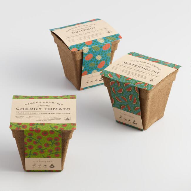Modern Sprout Organic Garden Drop In Kits Set of 3