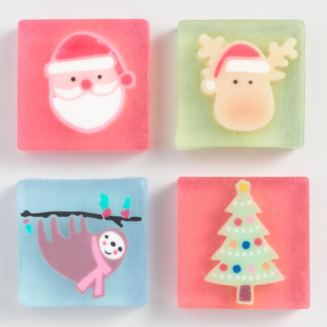Glycerin Holiday Soaps Set of 4
