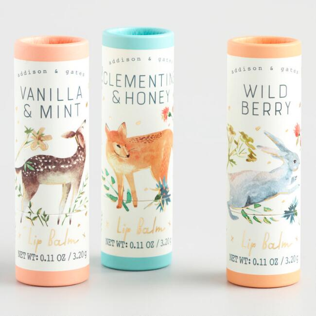 A&G Woodland Wildlife Lip Balm Collection