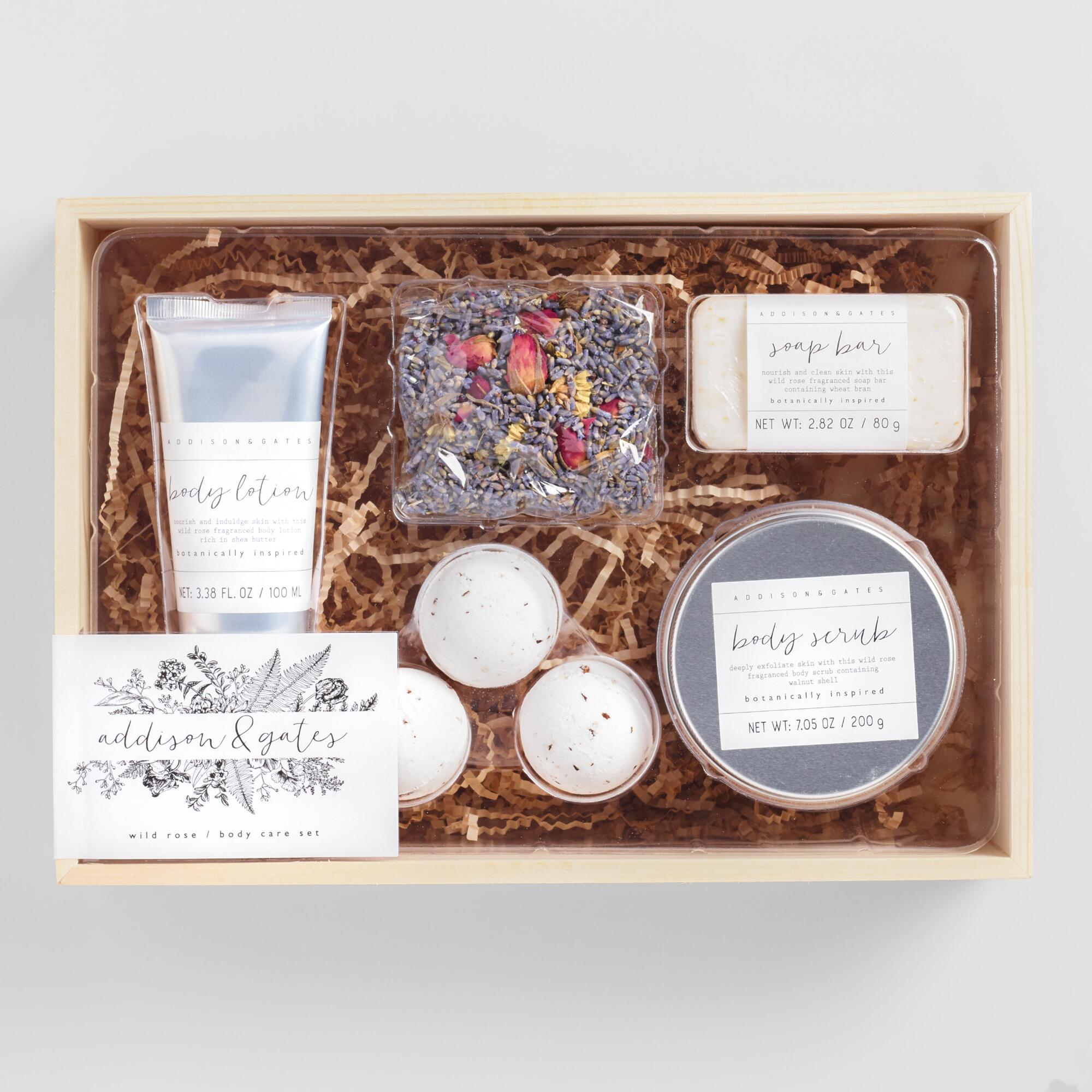 A&G Wild Rose Spa Essentials Gift Box 5 Piece Set by World Market