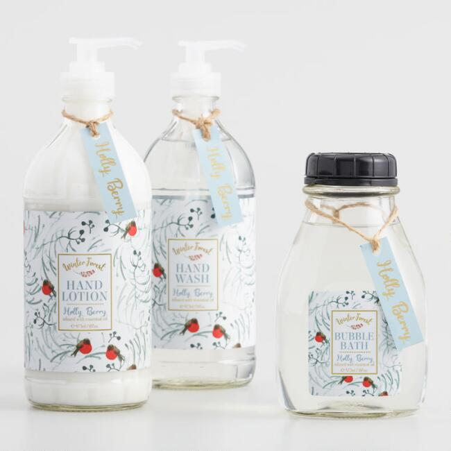 Winter Forest Holly Berry Bath and Body Collection