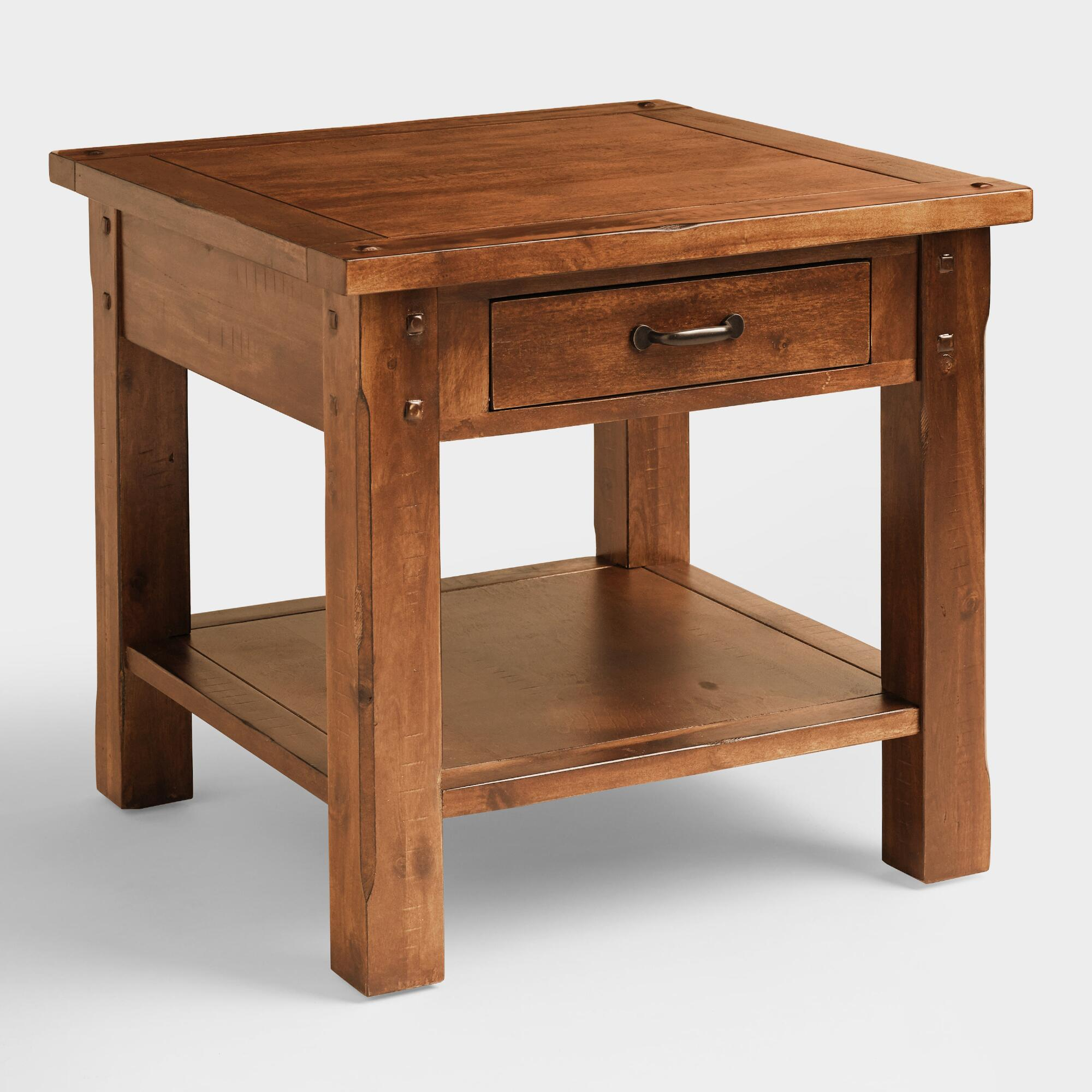 Madera coffee table world market madera end table geotapseo Gallery