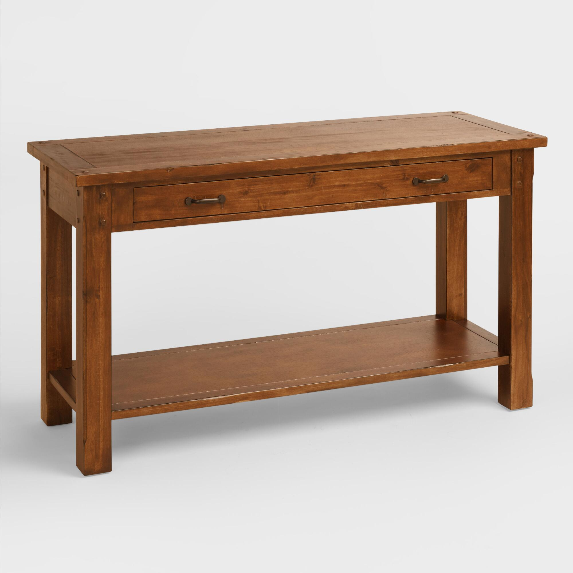 Cost Plus World Market Madera Console Table Brown Wood