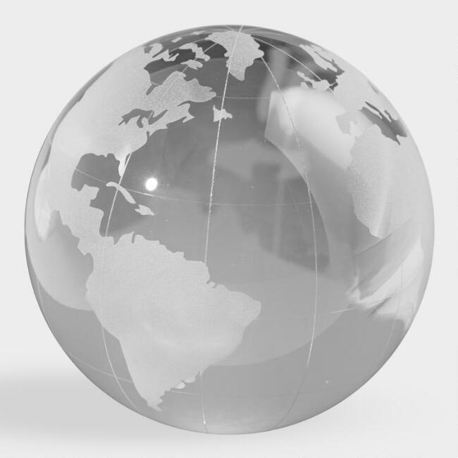Small Etched Glass Globe