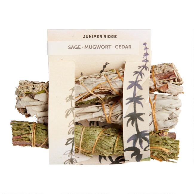 Juniper Ridge Cedar, Sage and Mugwort Bundles 3 Pack