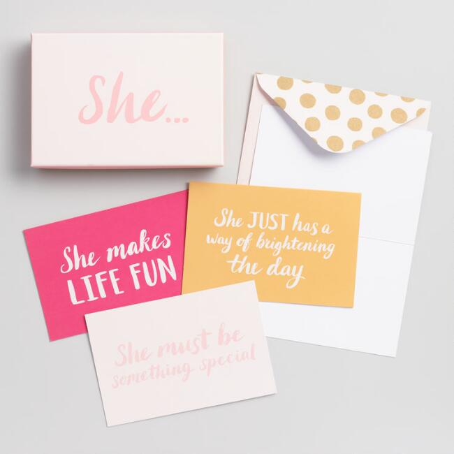 She Boxed Notecards Set of 8