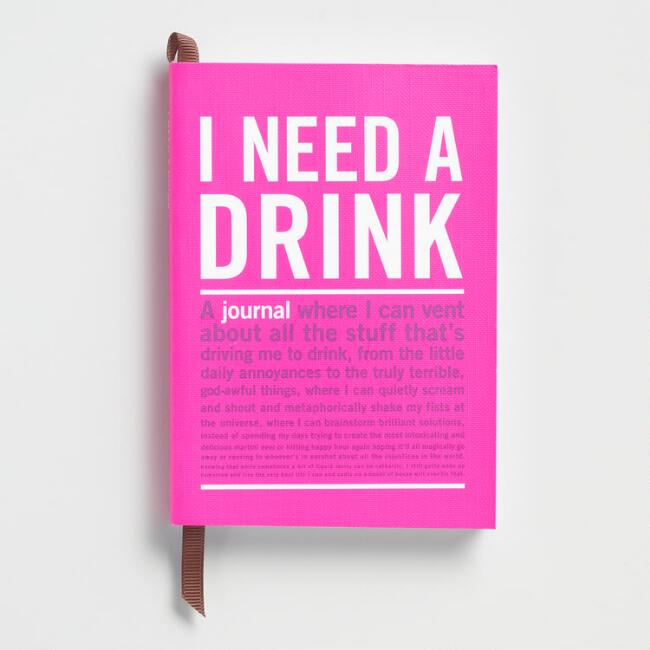 Knock Knock I Need A Drink Journal