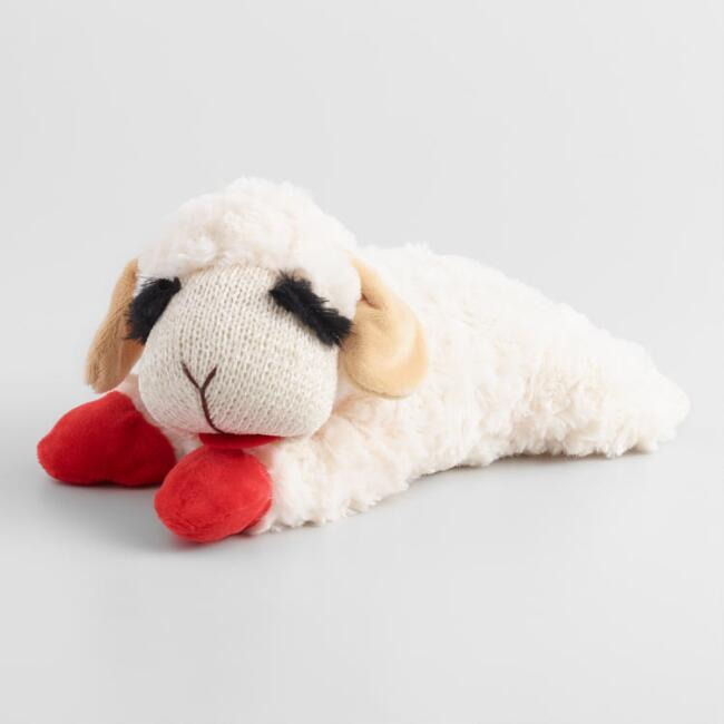 Lamb Chop Squeaker Dog Toy