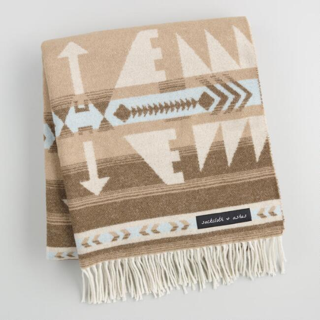 Sackcloth & Ashes Arrow Beige Blanket