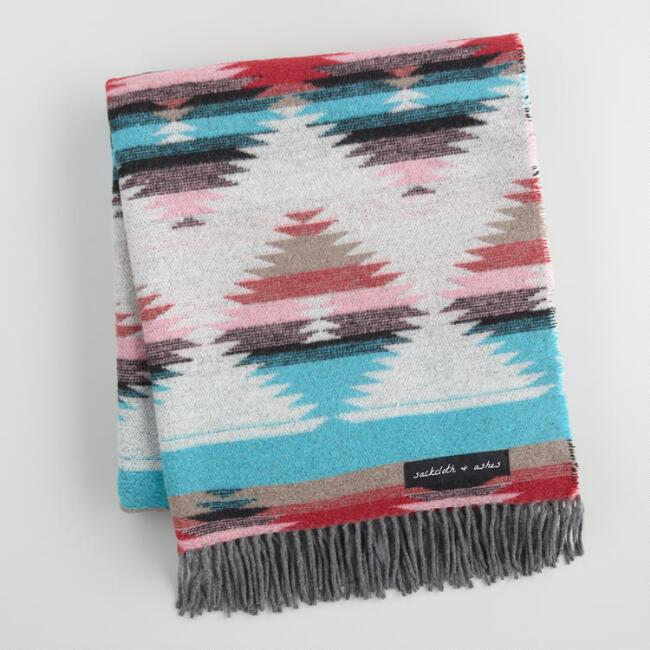 Sackcloth & Ashes Tribal Turquoise Blanket