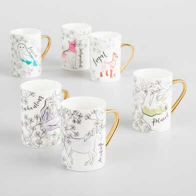Spirit Animal Mugs Set of 6