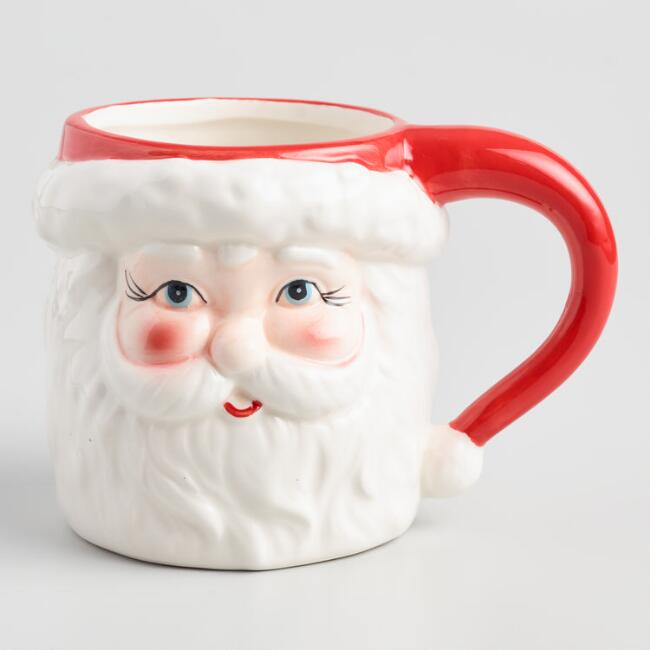 Jolly Santa Figure Mug