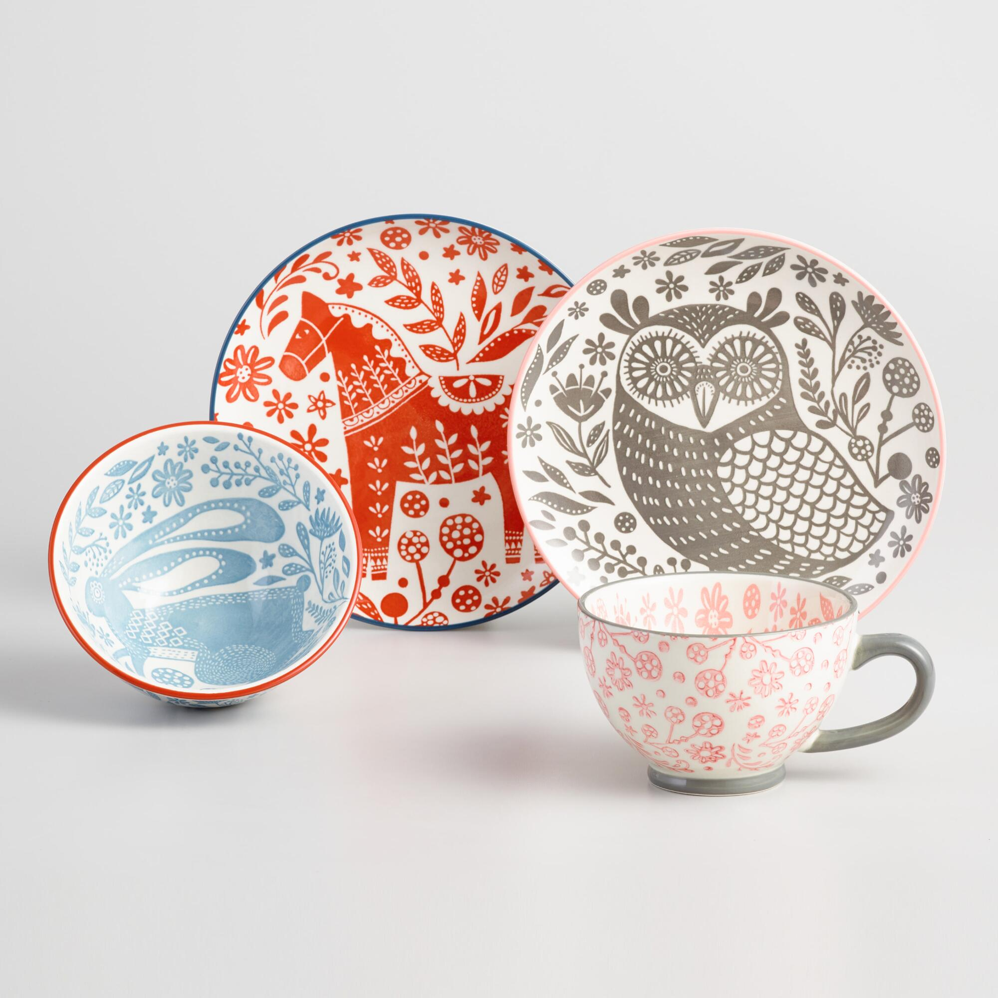 Scandi Folklore Animal Dinnerware Collection by World Market