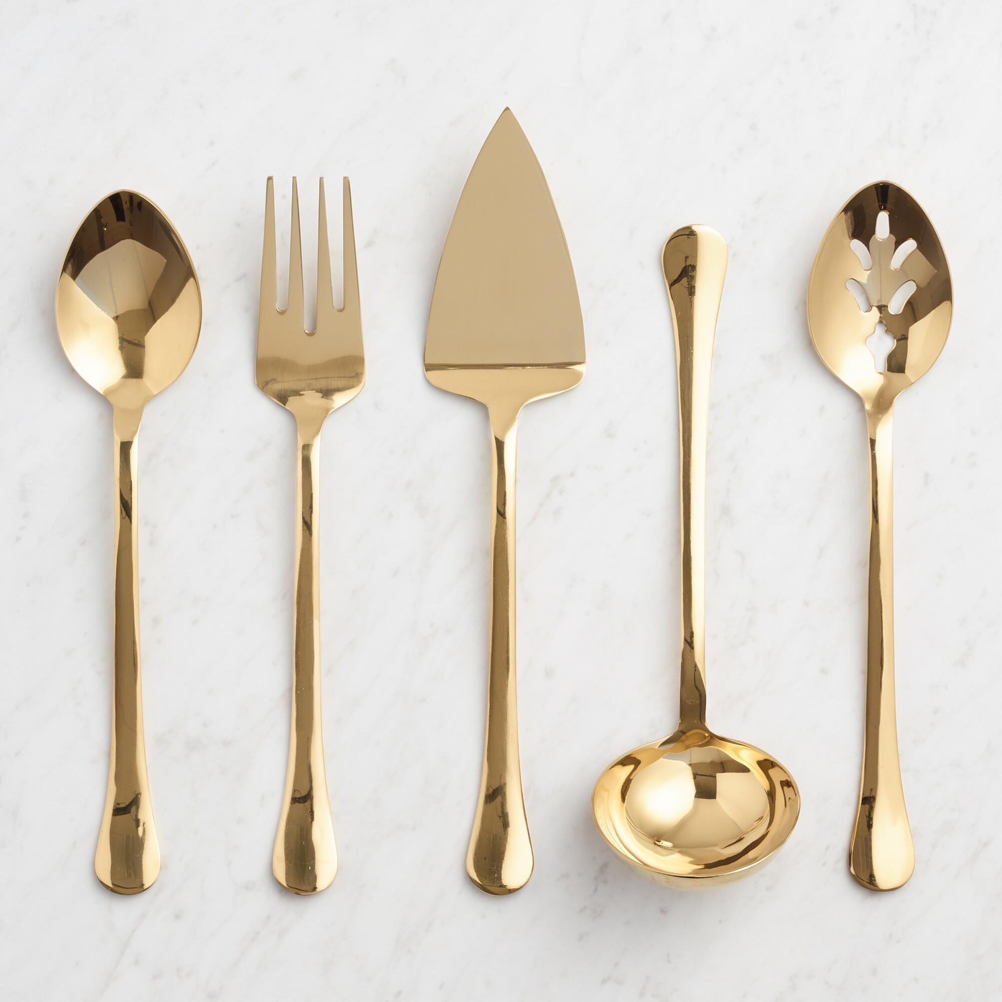 Gold Buffet Serving Utensil Collection by World Market