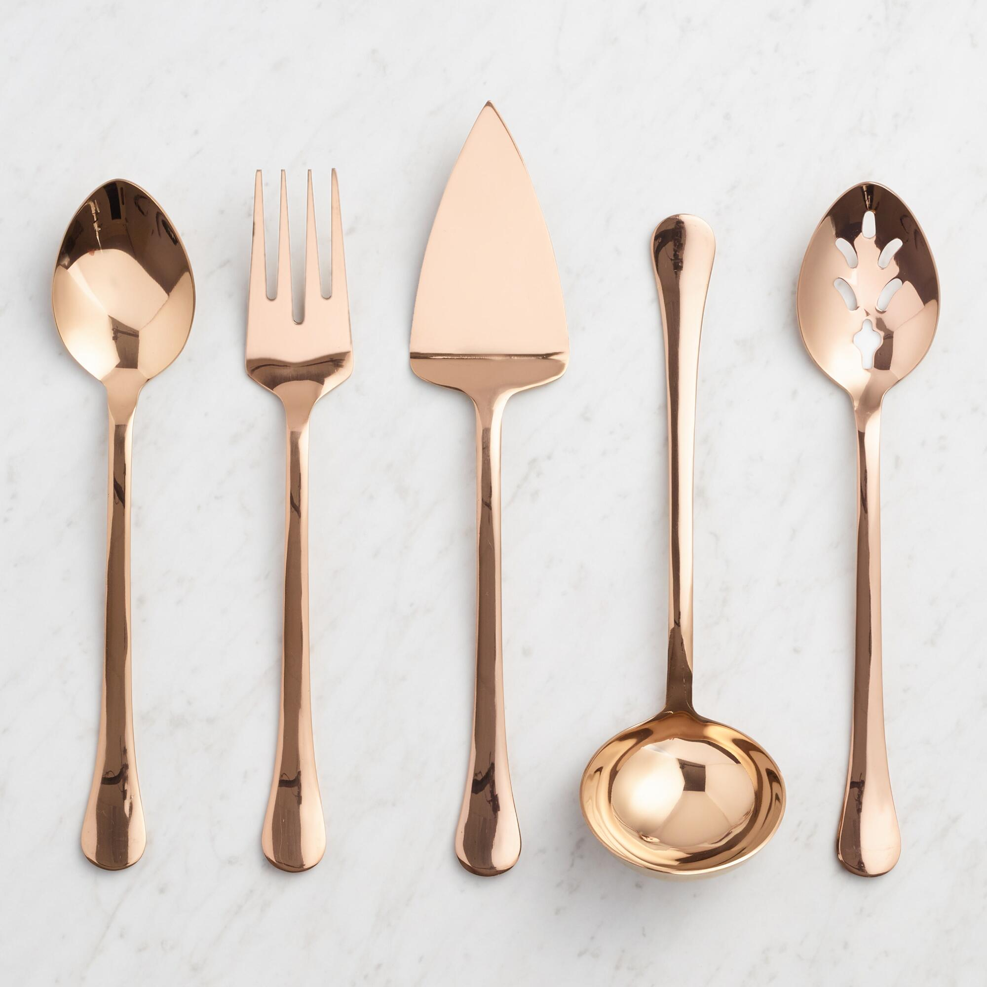 Rose Gold Buffet Serving Utensil Collection by World Market