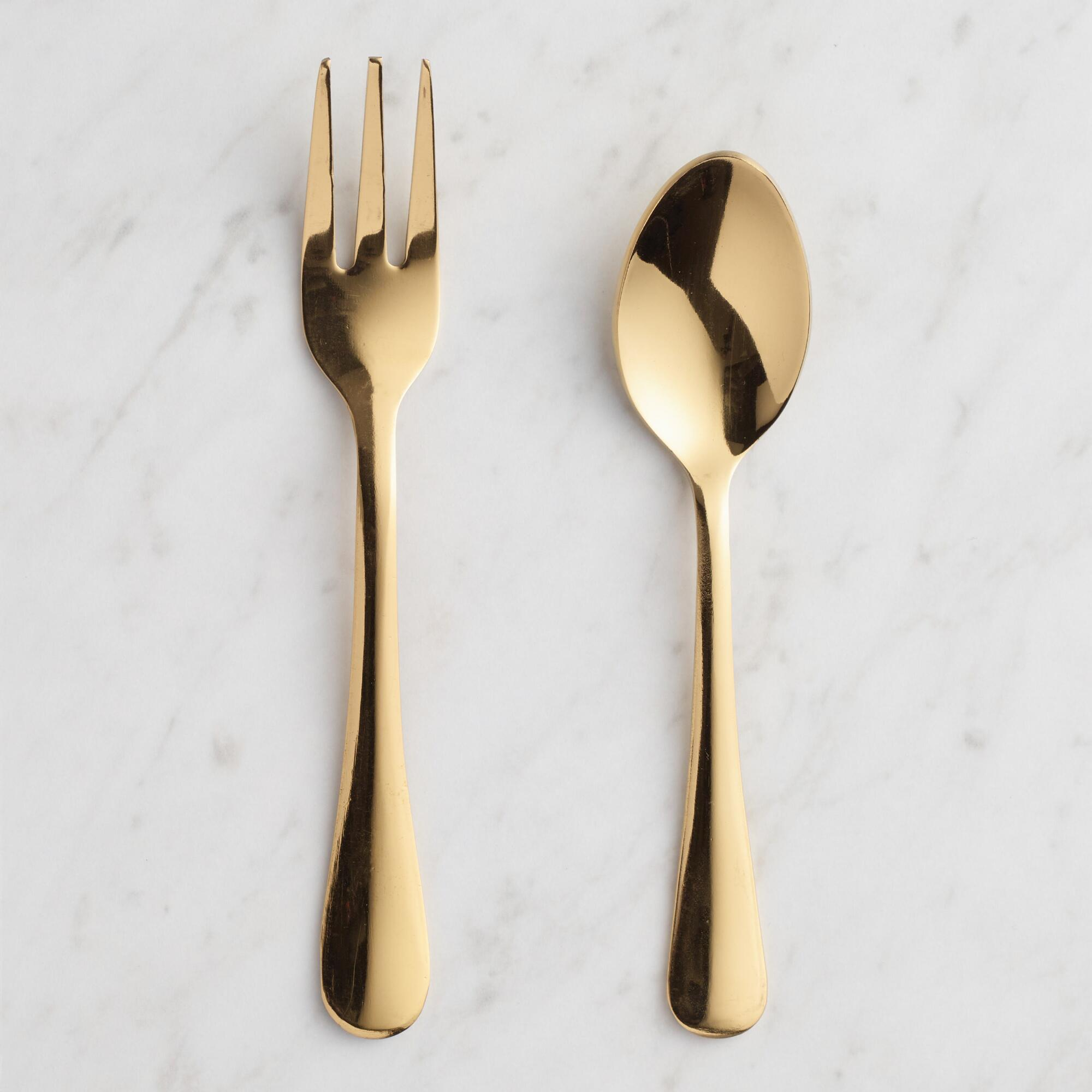 Gold Buffet Cocktail Utensil Collection by World Market
