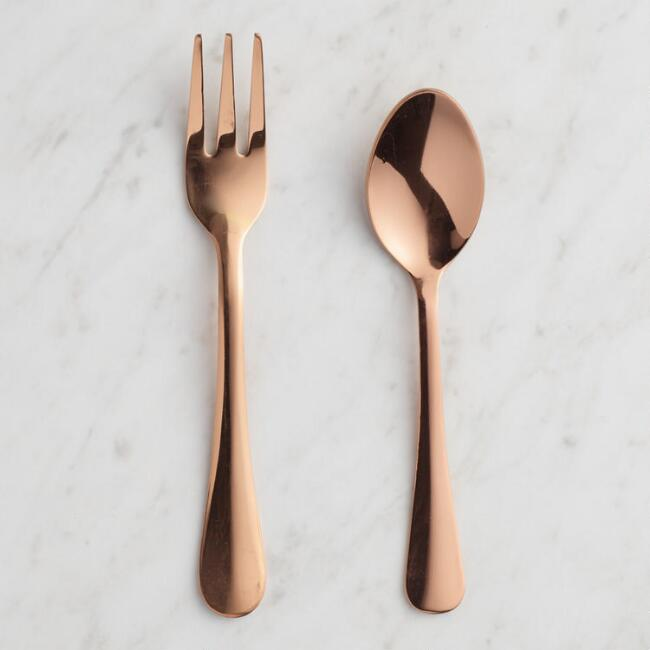 Rose Gold Buffet Cocktail Utensil Collection