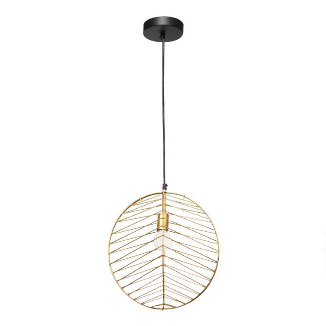 Gold Circle Cage Franco Pendant Lamp