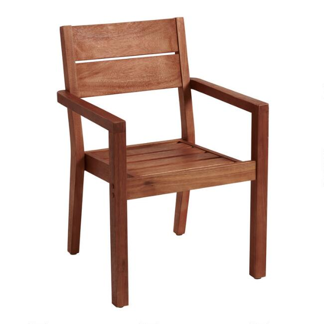 Eucalyptus Wood Formentera Outdoor Dining Armchair
