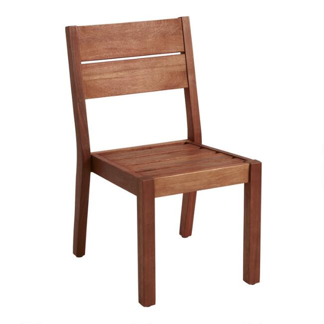 Eucalyptus Wood Formentera Outdoor Dining Side Chair