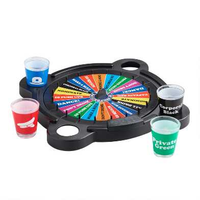 Wheel of Misfortune Drinking Board Game