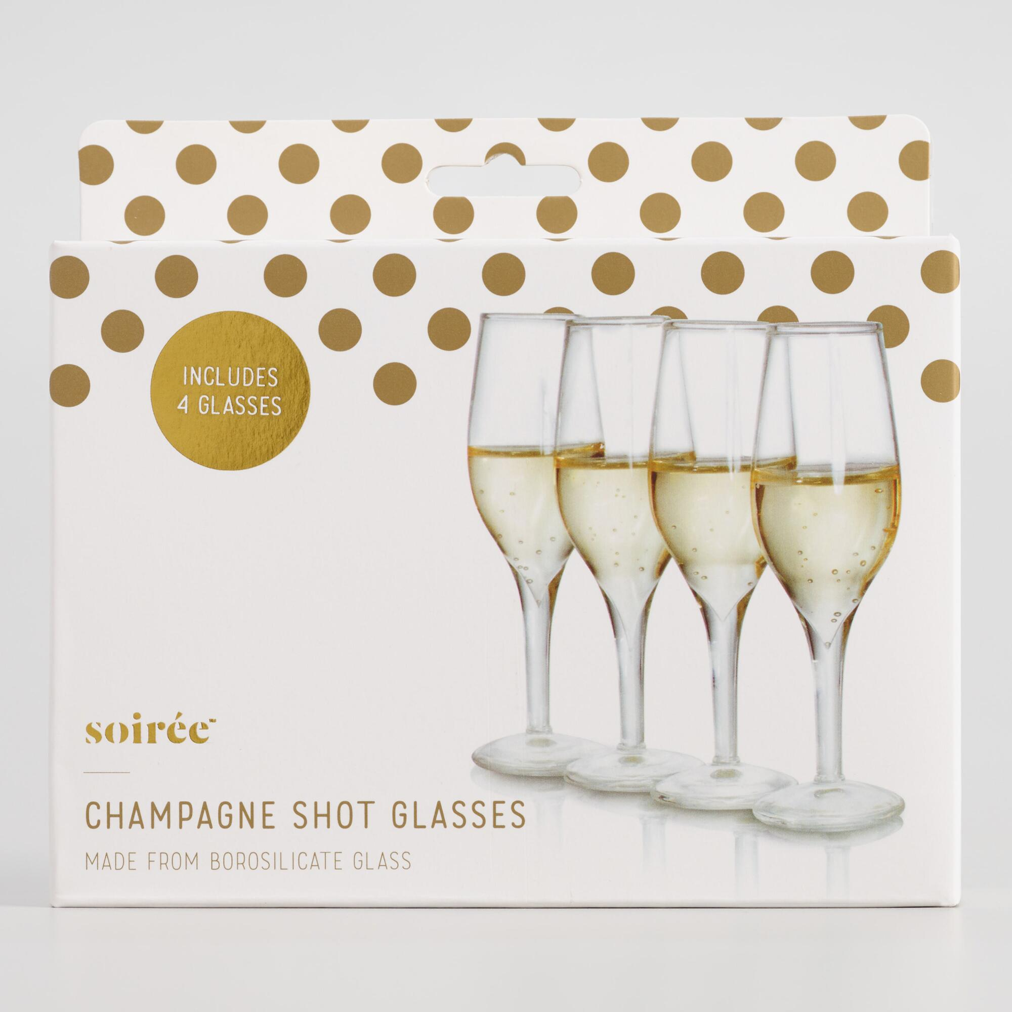 Mini Champagne Flute Shot Glasses 4 Pack by World Market