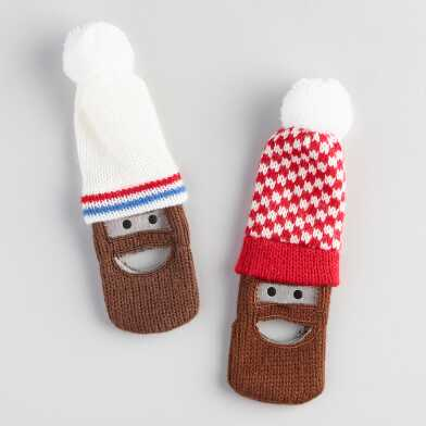 Knit Hat And Beard Bottle Openers Set Of 2