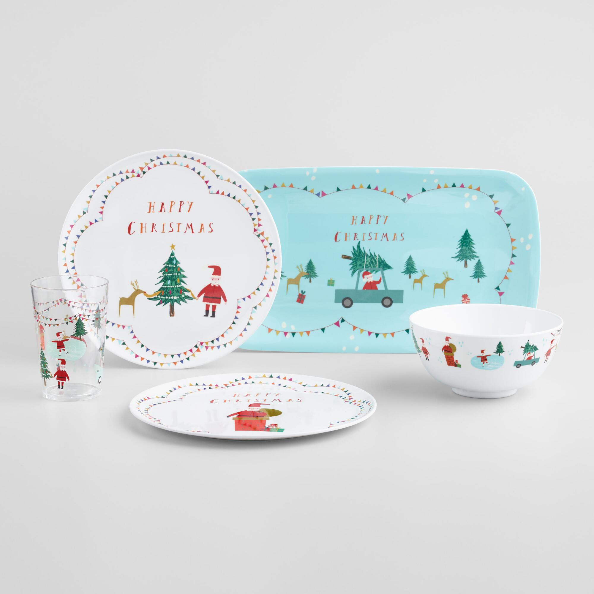 Hello Santa Melamine Dinnerware Collection by World Market