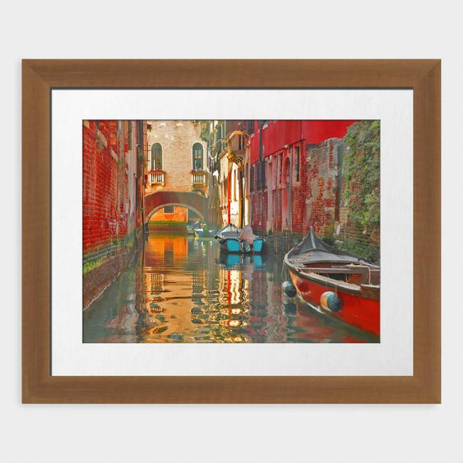 Venice Canal Framed Print Wall Art