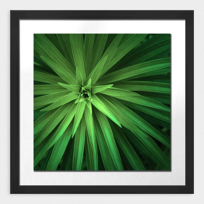 Palm Leaves Shadow Box Framed Wall Art