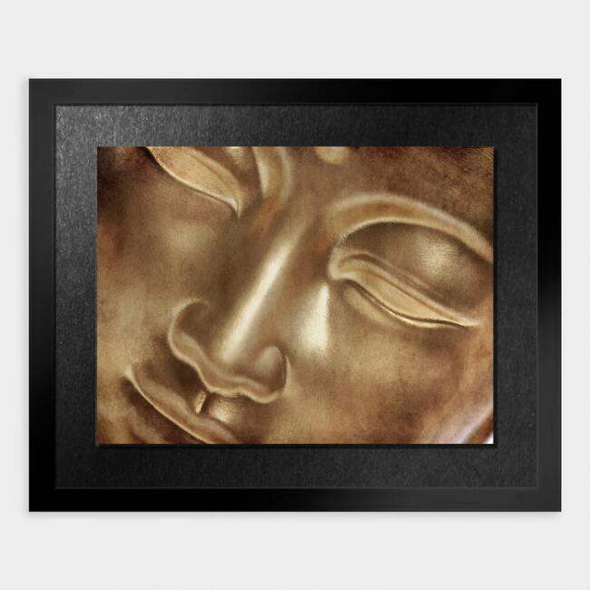 Golden Buddha Shadow Box Framed Wall Art