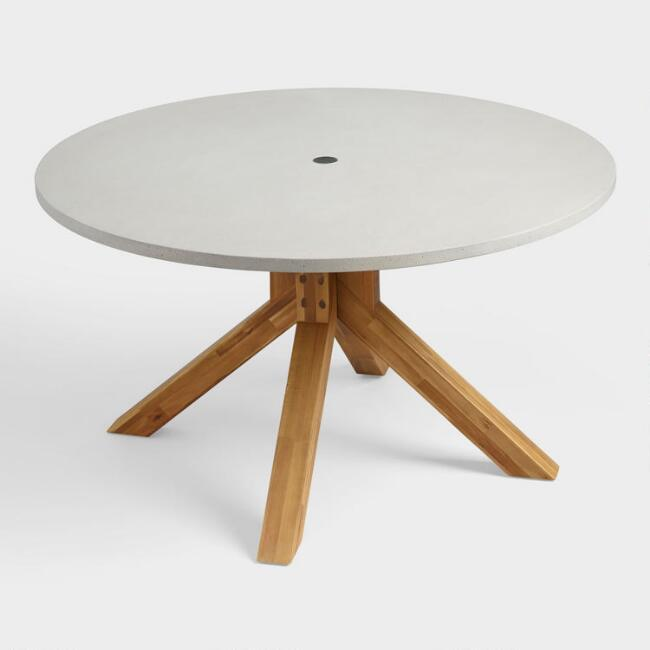 Round Faux Cement Palmera Outdoor Dining Table