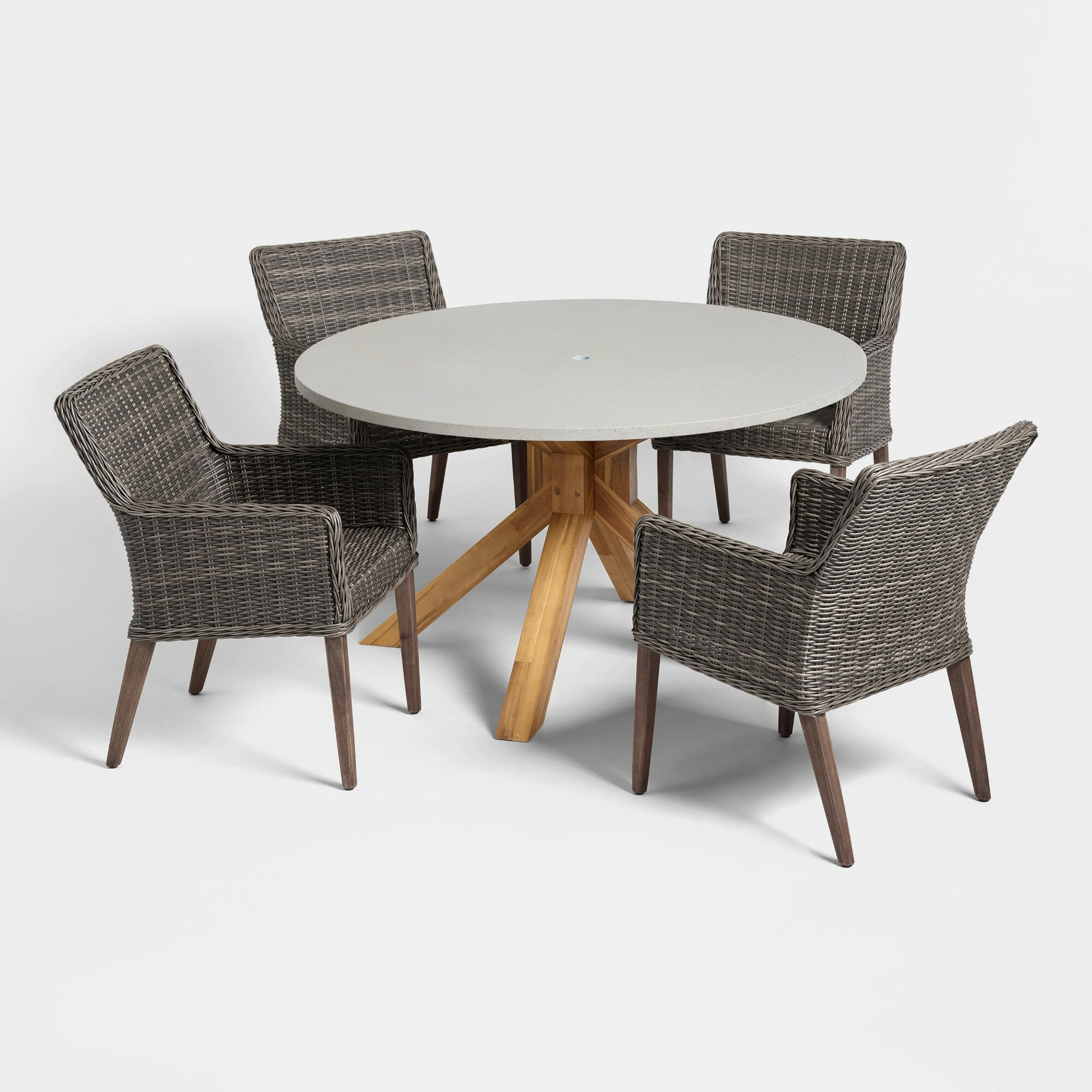 Faux Cement Palmera Outdoor Patio Dining Collection by World Market