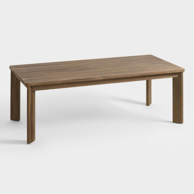 Warm Brown Wood Almeria Outdoor Dining Table
