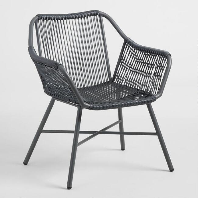 Charcoal Gray String Durban Outdoor Dining Chair by World Market