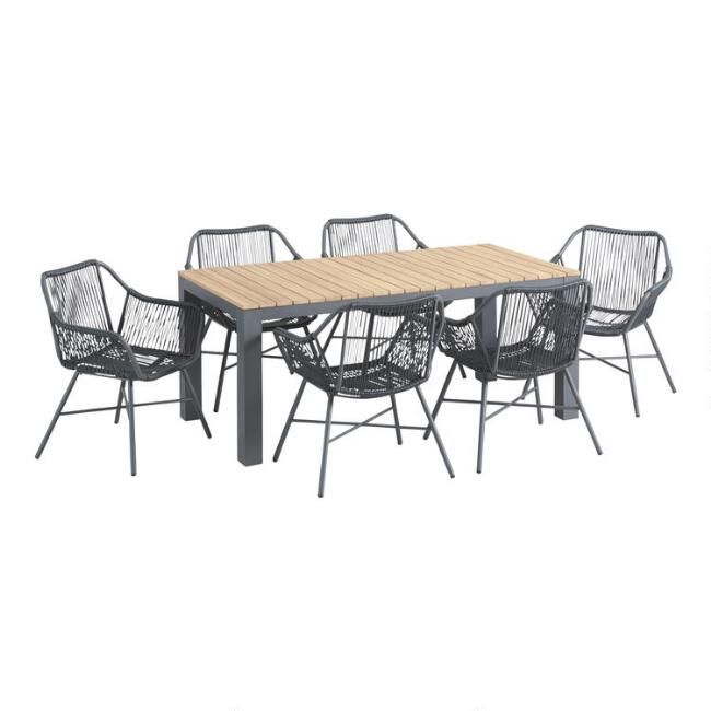 Charcoal Gray String Durban Outdoor Dining Collection