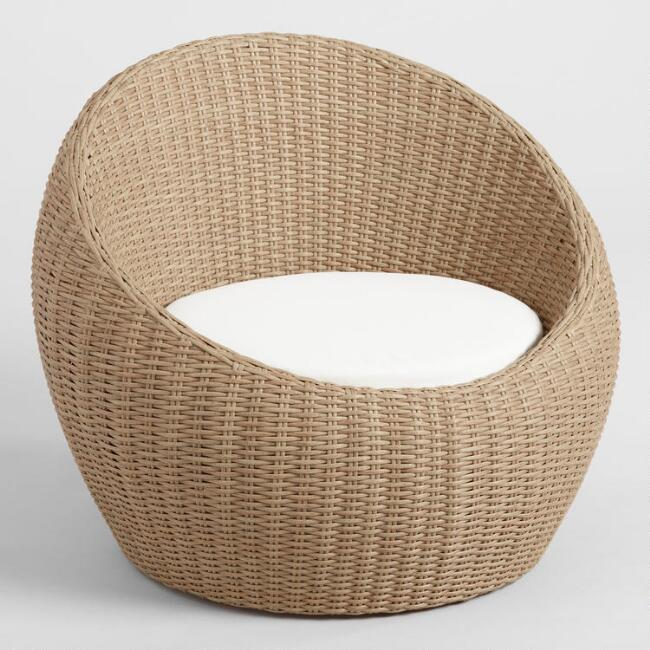 All Weather Wicker Vilamoura Outdoor Occasional Egg Chair