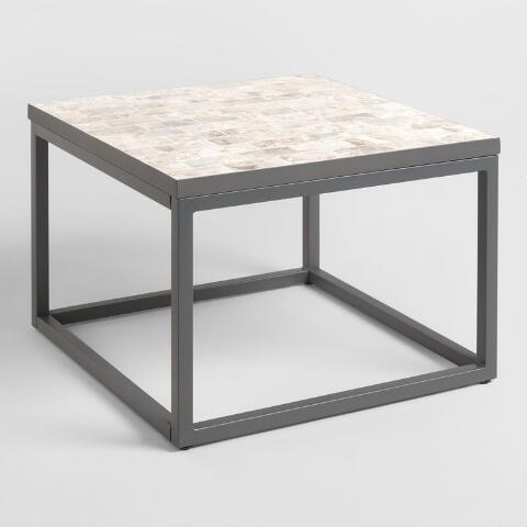 Square Marble Top Aveiro Outdoor Occasional Coffee Table
