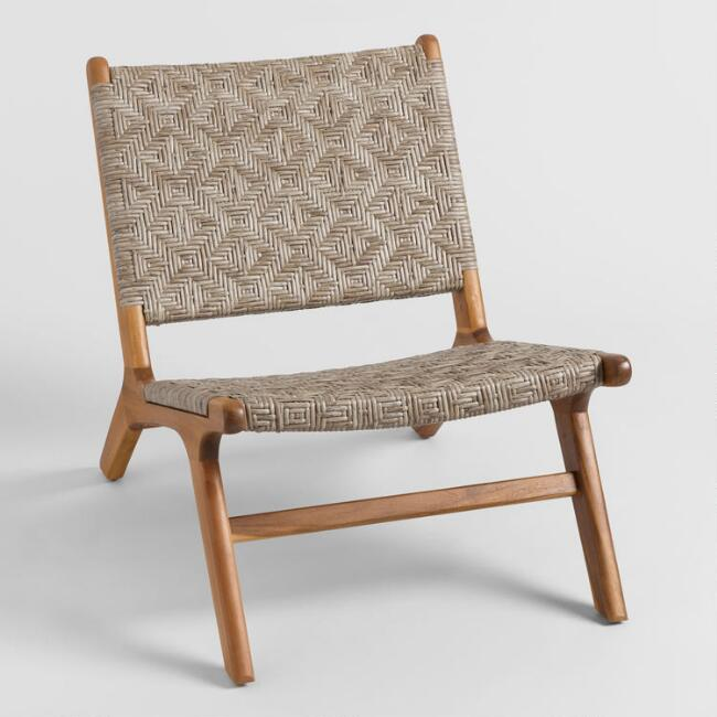 Brown Woven Geo Girona Outdoor Accent Chairs Set Of 2