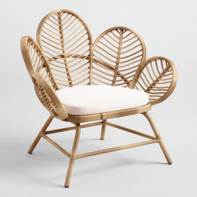 Wicker Fan Chair Set