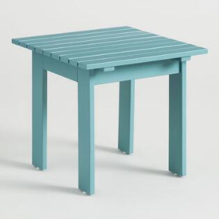 Wood Praiano Outdoor Storage Side Table World Market