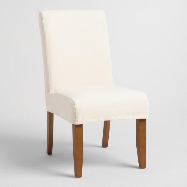 Linen Short Anna Chair Slipcover