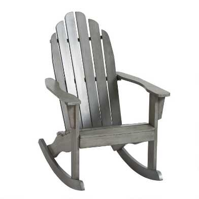 Gray Adirondack Rocking Chair