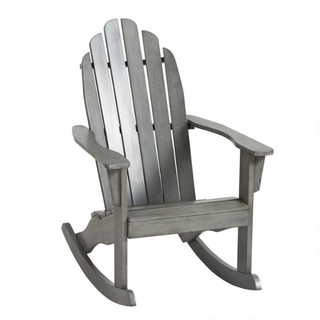 Gray Adirondack Rocking Chair by World Market